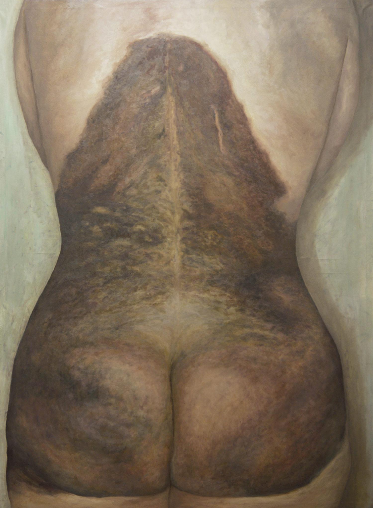 Laura Link . Neavus Flammerus Gigantus 2 . 2014 . Öl auf Leinwand . 170 x 120