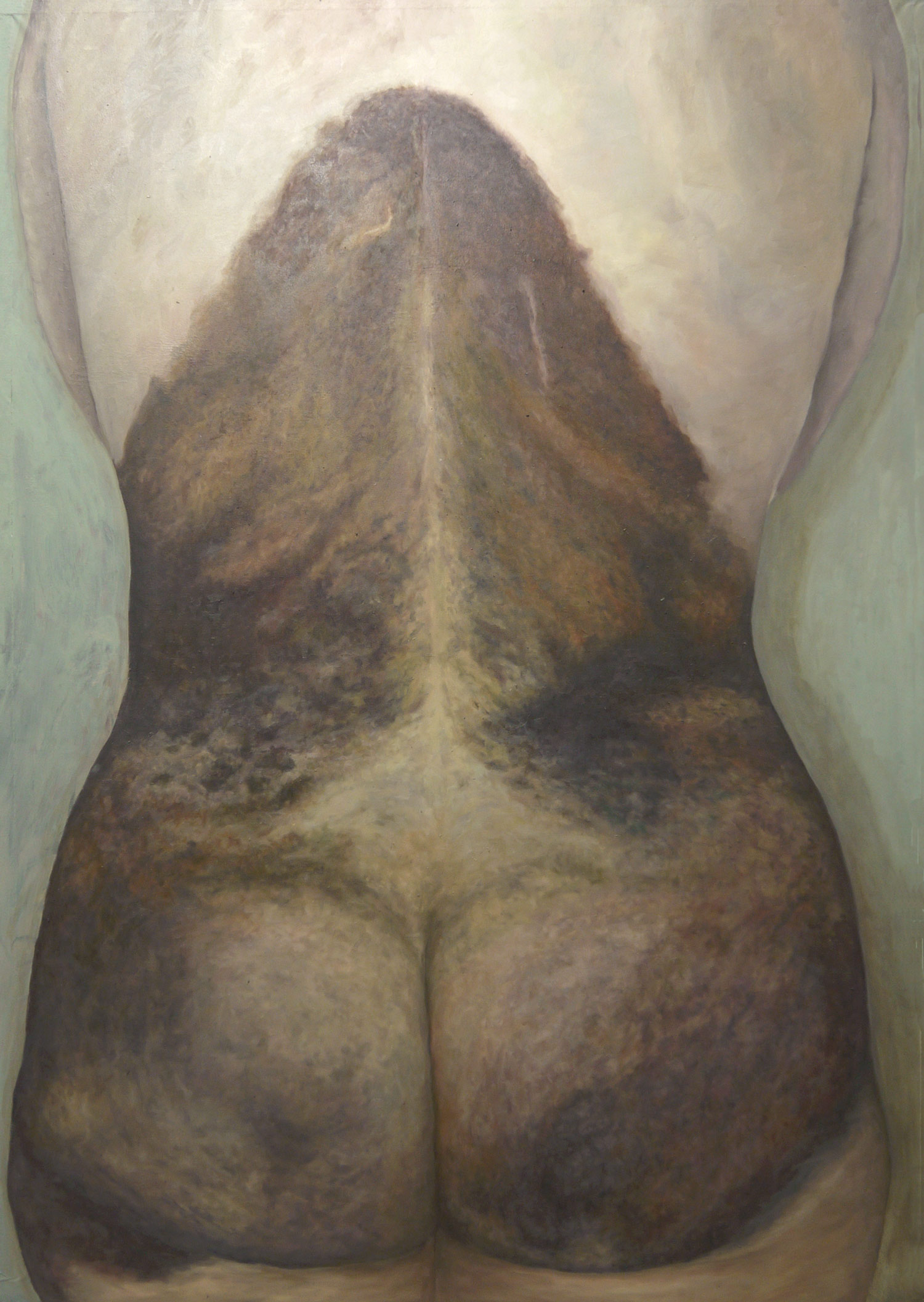 Laura Link . Neavus Flammerus Gigantus 3 . 2014 . Öl auf Leinwand . 170 x 120