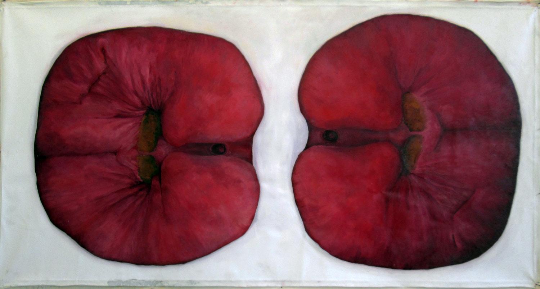 Laura Link . ohne Titel . 2013 . Öl auf Leinwand . 160 x 80