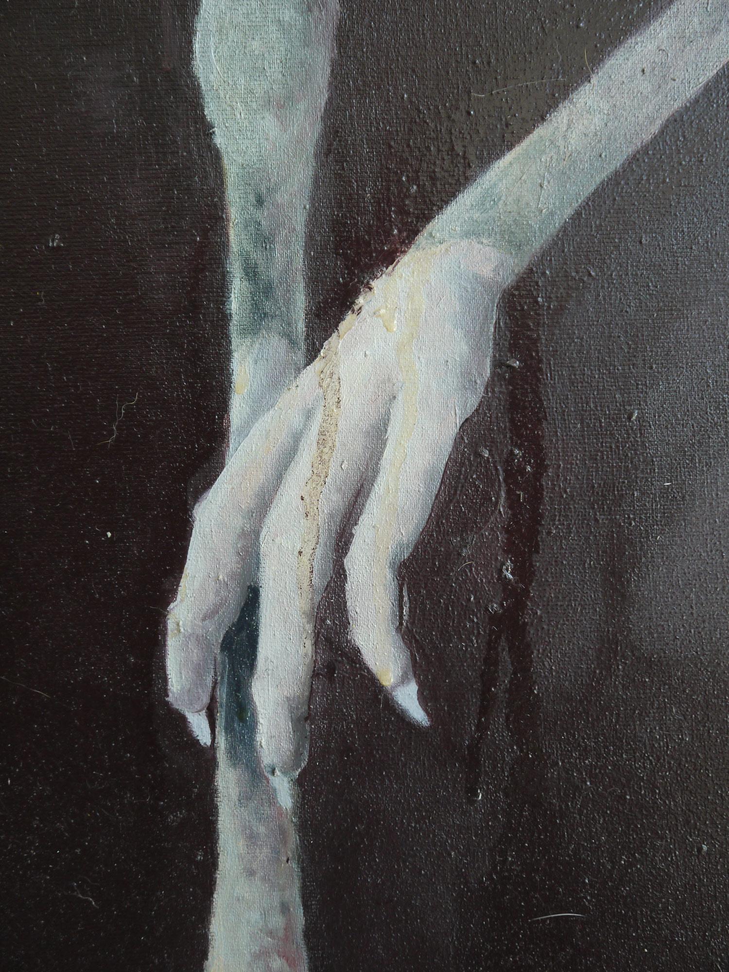 Laura Link . ohne Titel . 2014 . Öl auf Leinwand . 228 x 172 . Detailansicht