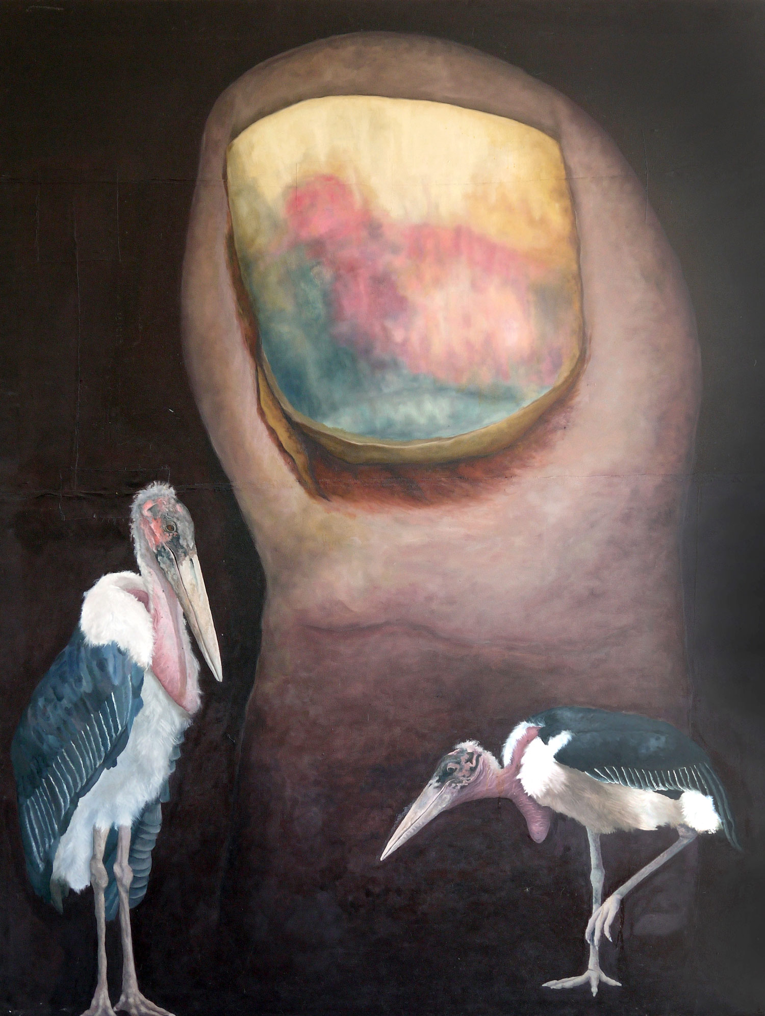 Laura Link . ohne Titel . 2014 . Öl auf Leinwand . 228 x 172