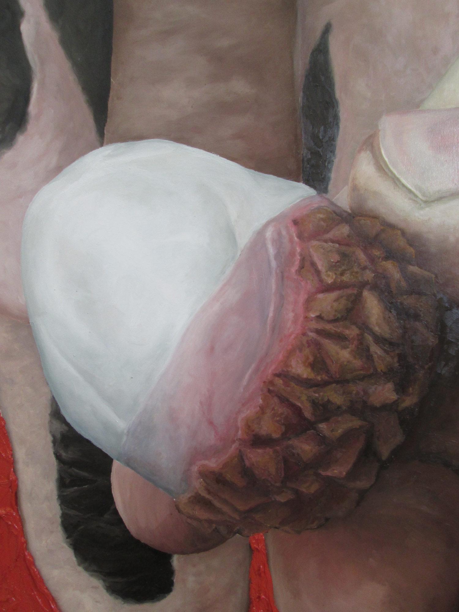 Laura Link . ohne Titel . 2015 . Öl auf Leinwand . 200 x 150 .Detailansicht