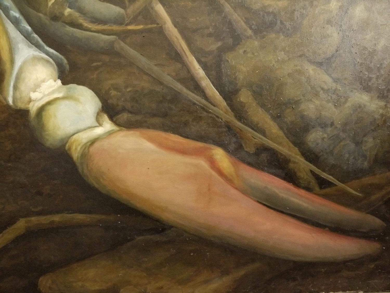 Laura Link . ohne Titel . 2015 . Öl auf Leinwand . 200 x 220 . Detailansicht