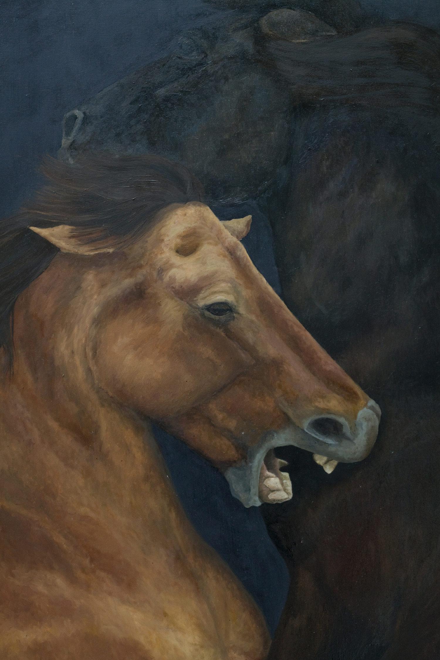 Laura Link . ohne Titel . 2015 . Öl auf Leinwand . 210 x 195 . Detailansicht