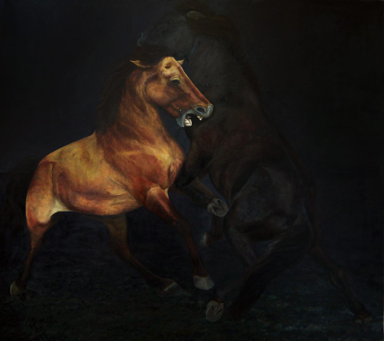 Laura Link . ohne Titel . 2015 . Öl auf Leinwand . 210 x 195