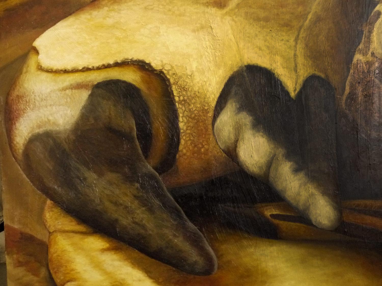 Laura Link . Meine Zunge . 2015 . Öl auf Leinwand . 170 x 240 . Detailansicht
