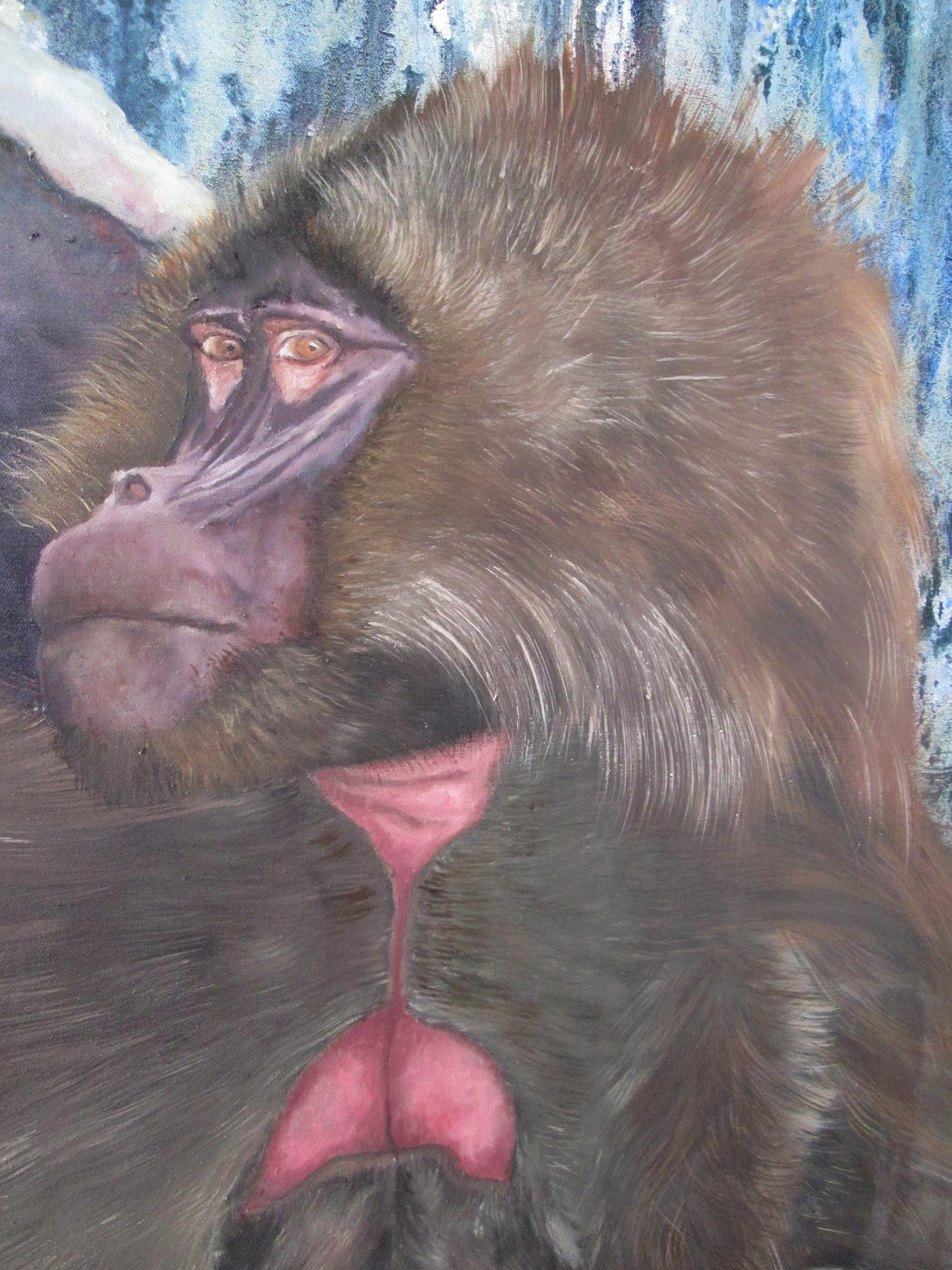 Laura Link . ohne Titel . 2015 . Öl, Tusche auf Leinwand . 260 x 180 . Detailansicht