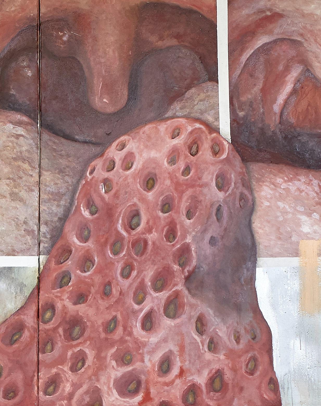 Laura Link, In Effigie www.fettefickweiber.com, 2021, Öl auf Leinwand, 340x500 cm, Detailansicht5, Foto: Thomas Lorenz